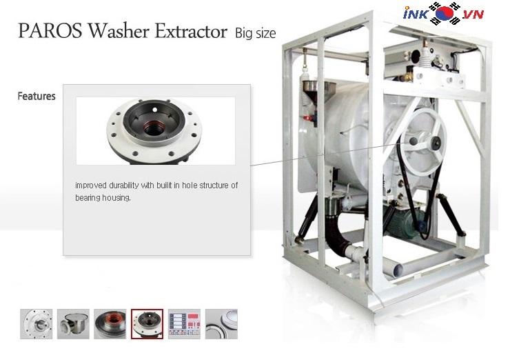 Chi tiết máy giặt công nghiệp Paros
